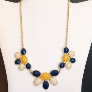 Charming Charlie blue, yellow and white necklace
